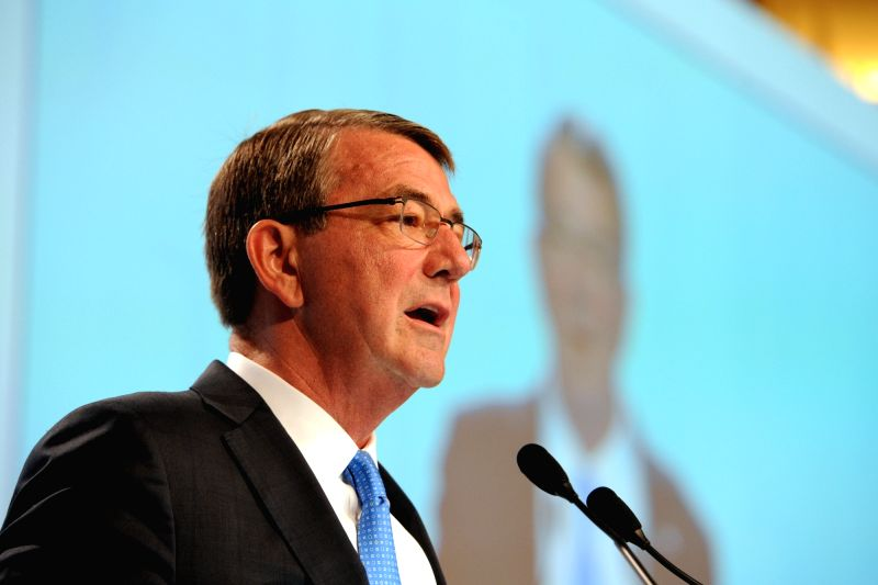 SINGAPORE, June 4, 2016 - U.S. Defense Secretary Ashton Carter attends the 15th Shangri-La Dialog in Singapore, June 4, 2016. The 15th Shangri-La Dialog enters the second day in Singapore on Saturday.