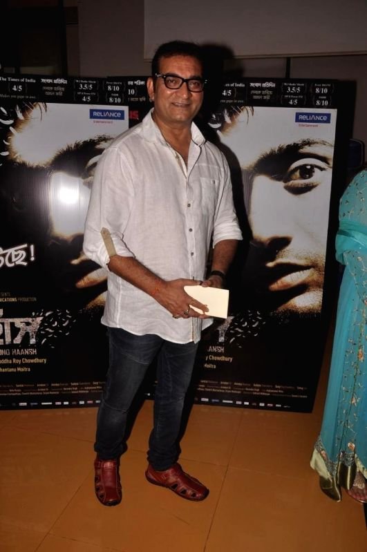 Singer Abhijeet Bhattacharya during special screening of Bengali film Buno Haansh in Mumbai.
