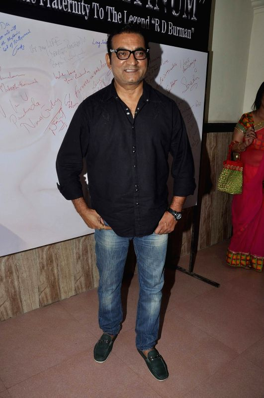 Singer Abhijeet Bhattacharya during the celebration of 75th birth anniversary of late music director R D Burman in Mumbai, on June 27, 2014.
