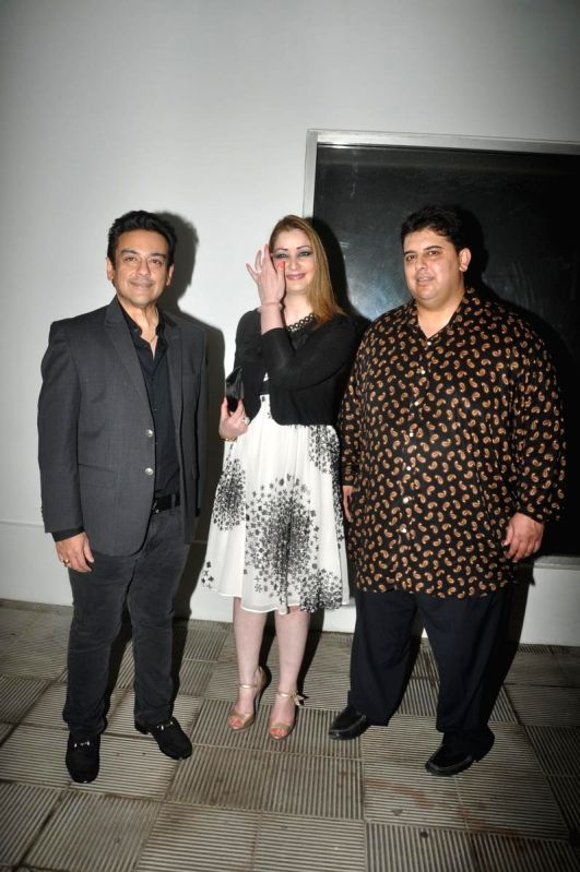 Singer Adnan Sami With Wife Roya Faryabi At The Music Release Of His ...