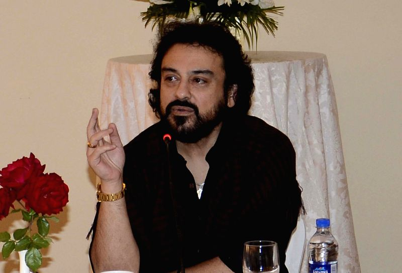 Singer Adnan Sami interacts with local artists in Srinagar on Oct 6, 2017. - Adnan Sami