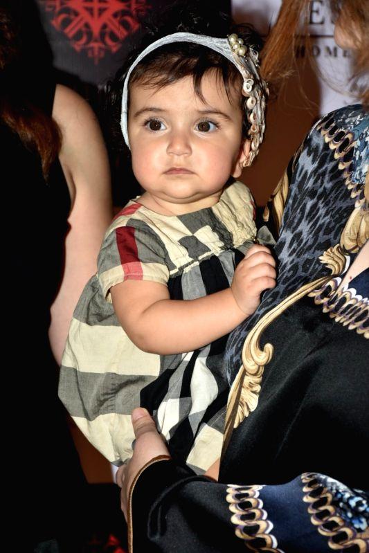 Singer Adnan Sami's daughter Medina Sami Khan at a store launch in Mumbai on April 13, 2018 . - Sami Khan