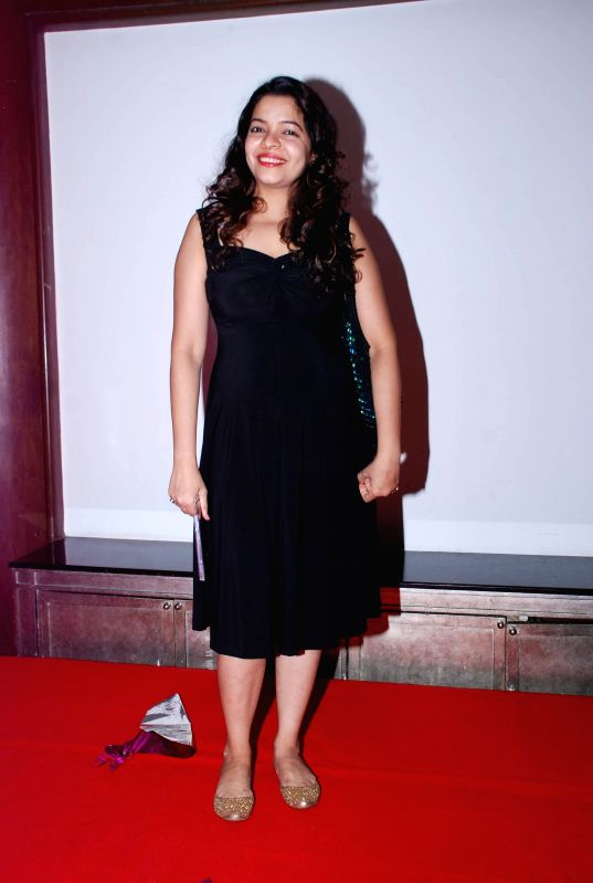 Singer Ainagha Phanse during the music launch of film Identity Card in Mumbai, on Aug. 16, 2014.