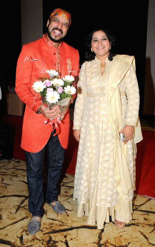 "Singer and Composer Rajeev Mahavir and Kavita Sheth during the launch of sufi album ""Sound Of Sufi"" at Hotel Sahara Star in Mumbai on June 18th, 2014"