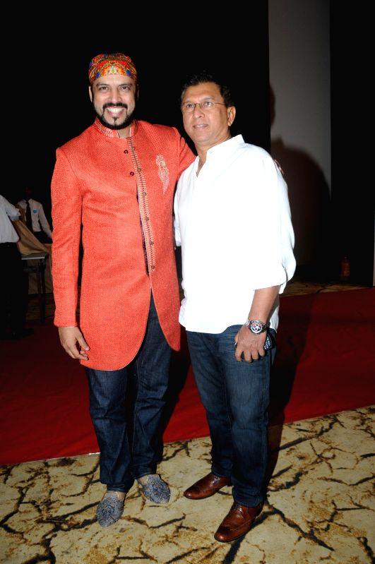 "Singer and Composer Rajeev Mahavir and Kiran More during the launch of sufi album ""Sound Of Sufi"" at Hotel Sahara Star in Mumbai on June 18th, 2014"