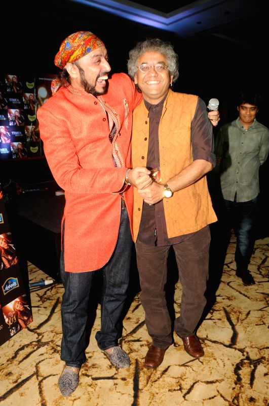 "Singer and Composer Rajeev Mahavir and Taufique Qureshi during the launch of sufi album ""Sound Of Sufi"" at Hotel Sahara Star in Mumbai on June 18th, 2014"