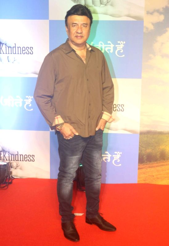 "Singer Anu Malik during screening of film ""Chalo Jeete Hai"", in Mumbai on July 28, 2018. - Malik"