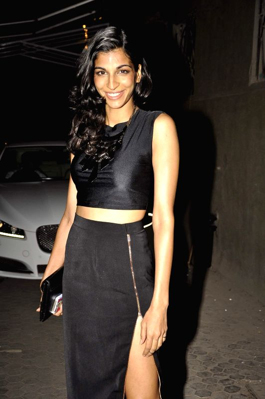 Singer Anushka Manchanda during the launch of music Director Mikey Mccleary`s new album `Classic Bollywood with a Twist` at Blue Frog in Mumbai, on May 14, 2014.