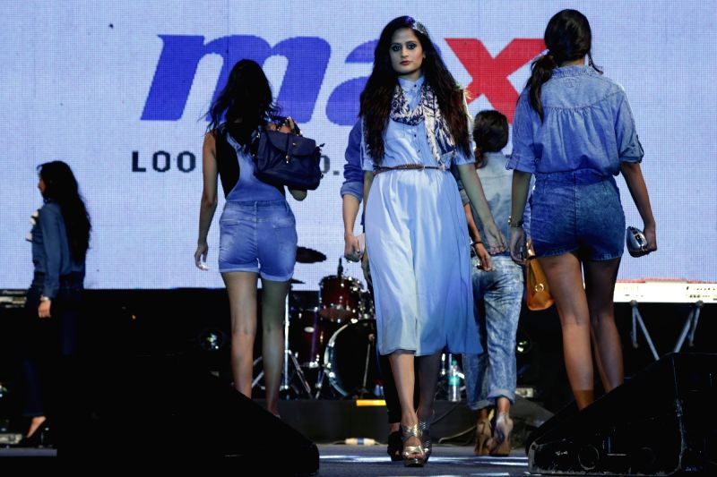 """Singer Badshah during the launch of Max's autumn boho collection and """"Badshah Live in Concert"""", in Noida on August 06, 2016."""