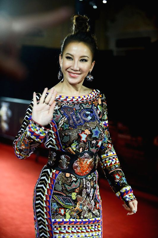 Singer Coco Lee during the 18th Global Chinese Chart in Macau of China on April 23, 2014.