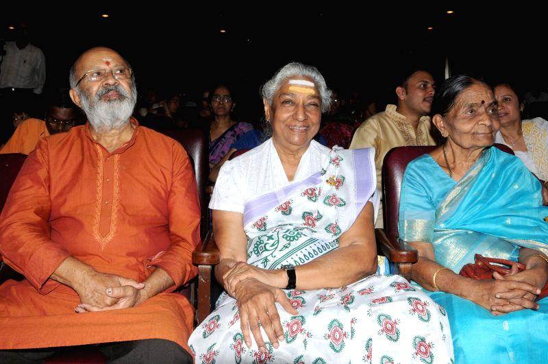 Singer Dr. S Janaki during inauguration of GV Atri Savi Nenapu (memorial) programme organised by Sangeeta Ganga at Ravindra Kalakshetra in Bangalore on April 30, 2014.