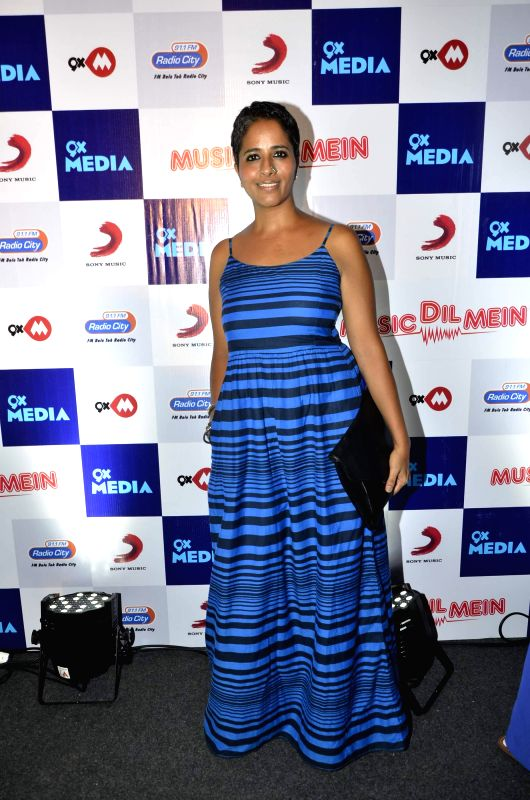 Singer Hamsika Iyer during the launch of music video `Music dil mein` composed by Rochak Kohli for the apt occasion of World Music Day in Mumbai on Friday, June 20, 2014. - Rochak Kohli