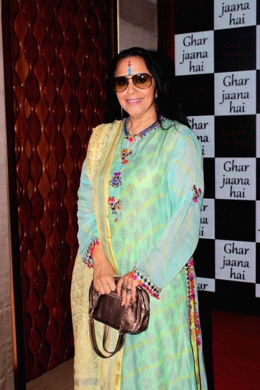 Singer Ila Arun during the launch of music `Ghar Jaana Hai`, in Mumbai on May 25, 2017.