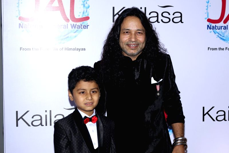 Singer Kailash Kher during the celebration of his padma shri awards in Mumbai on April 25, 2017. - Kailash Kher