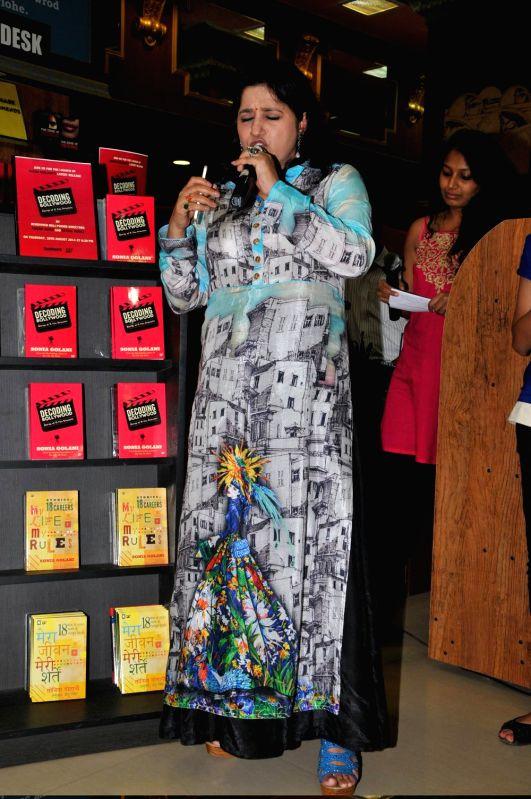 Singer Kavitha Seth during the launch of book Decoding Bollywood by author Sonia Golani in Mumbai, on Aug 28, 2014. - Kavitha Seth