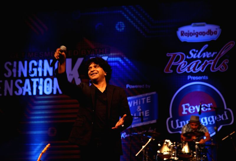 Singer KK performing live, at Siri fort auditorium in New Delhi on Dec. 5, 2015.