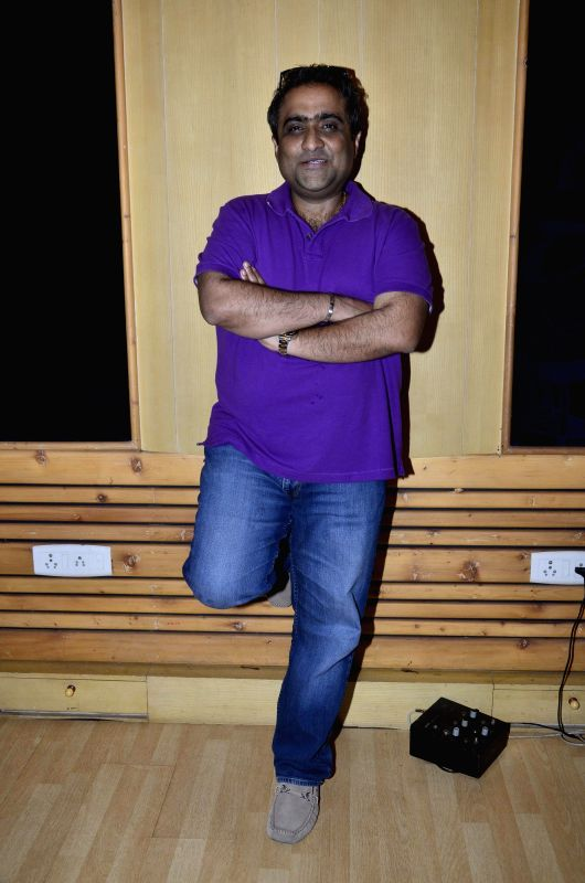 Singer Kunal Ganjawala during the records song for the film ``Auto Romance `` in Mumbai  on 22nd April 2014.