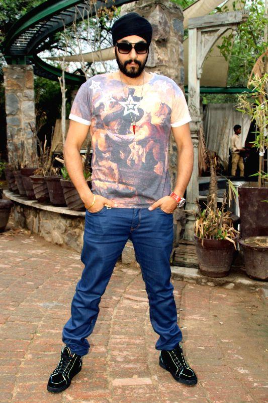 Singer Manj Ral during a press conference in New Delhi on July 3, 2014.