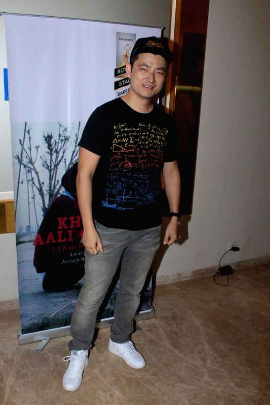 Singer Meiyang Chang during the screening of Punjabi short film Khoon Aali Chithi in Mumbai on April 24, 2017.