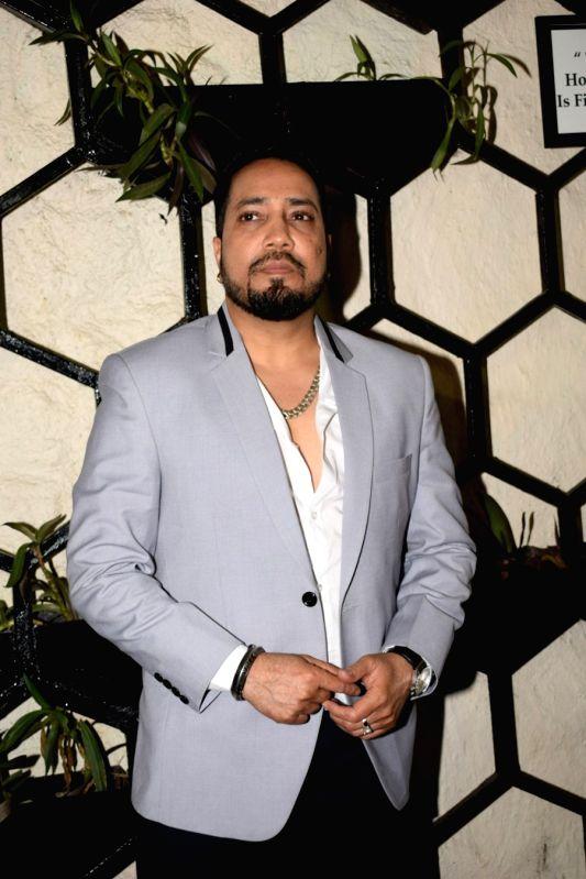 Singer Mika Singh at the actor Varun Sharma's birthday party in Mumbai on Feb 4, 2018.(Image Source: IANS)