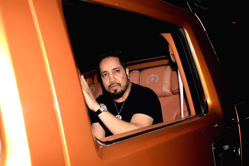 "Singer Mika Singh at the special screening of film ""October"" in Mumbai on April 12, 2018. - Mika Singh"