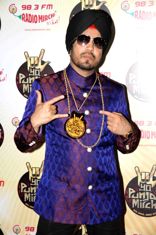 Singer Mika Singh during the launch of new Punjabi radio station, Yo Punjabi Mirchi, in Mumbai, on Oct 26, 2015. - Mika Singh