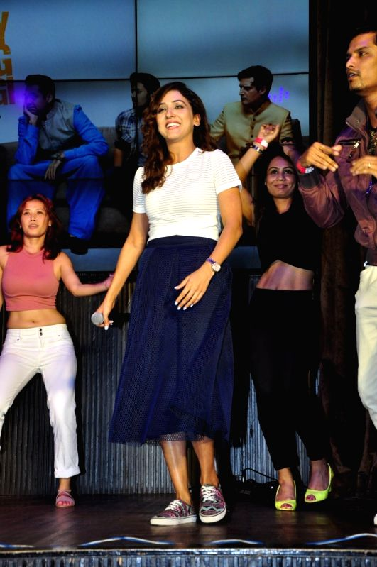 Singer Neeti Mohan during the music launch of film Happy Bhag Jayegi, in Mumbai on Aug 2, 2016.