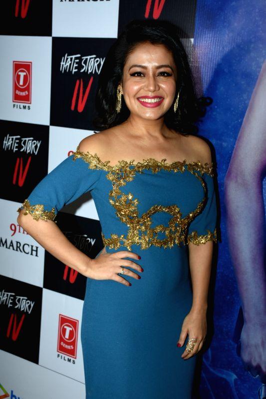 """Singer Neha Kakkar at the song launch of upcoming film """"Hate Story IV"""" in Mumbai on Jan 31, 2018."""