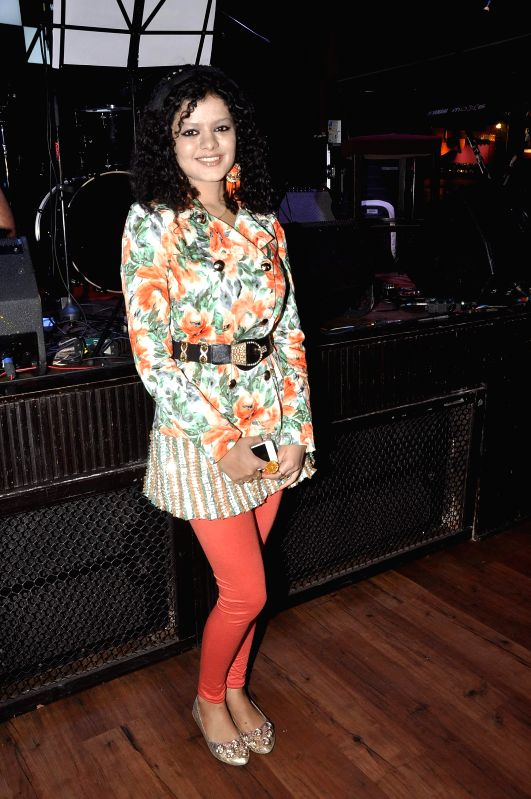 Singer Palak Muchhal during the music launch of film Amit Sahni Ki List in Mumbai on June 18, 2014.