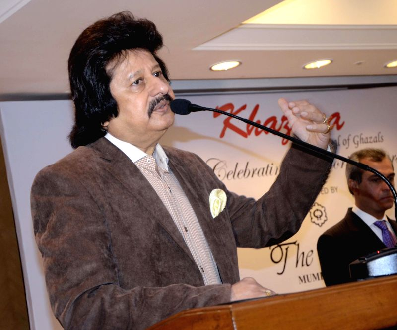 Singer Pankaj Udhas during a press conference organised to announce `The Festival of Ghazal` in Mumbai on July 23, 2014.