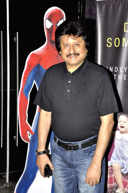 Singer Pankaj Udhas during the screening of Hollywood film The Amazing Spider-Man 2 in Mumbai, on April 29, 2014.