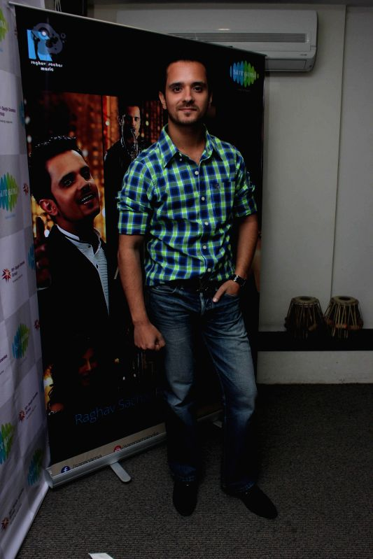 Singer Raghav Sachar during the media interaction on the release of the song Raat Akeli Hai in Mumbai on June 18th, 2014