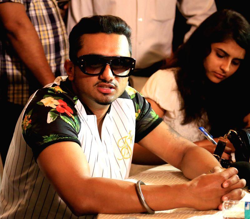 Singer-rapper Honey Singh during a press conference in Jaipur on July 18, 2014.
