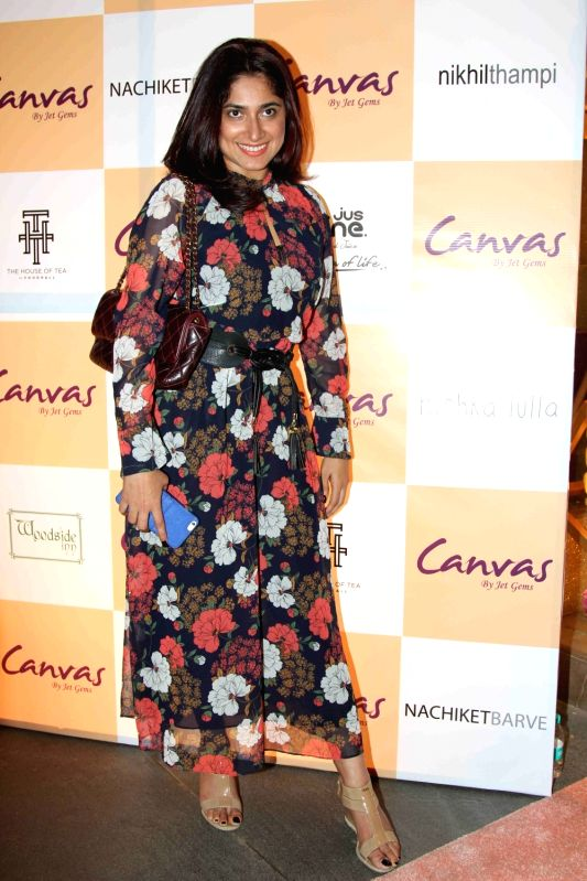 Singer Shaan's wife Radhika Mukherje during the launch of jewellery brand, Canvas by Jet Gems in Mumbai on Dec 3, 2015.