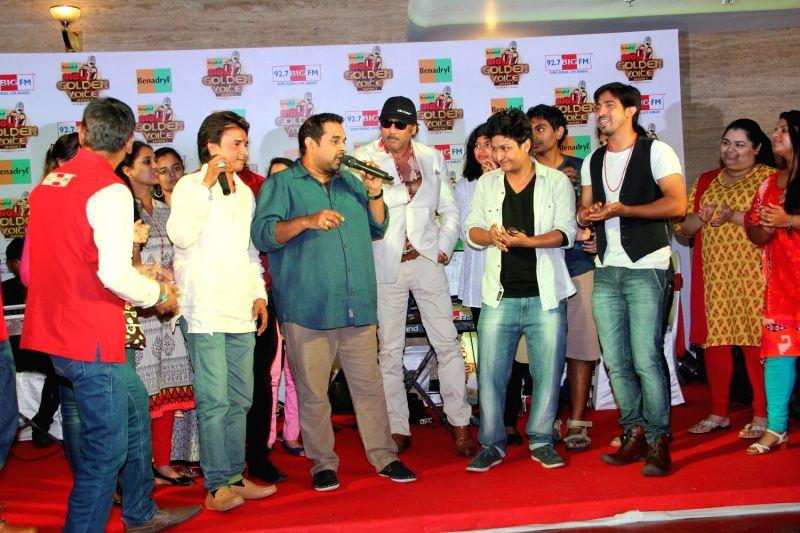 Singer Shankar Mahadevan during the press conference of 92.7 BIG FM 14 national finalists of Benadryl BIG Golden Voice Season 3 in Mumbai, on August 6, 2015.