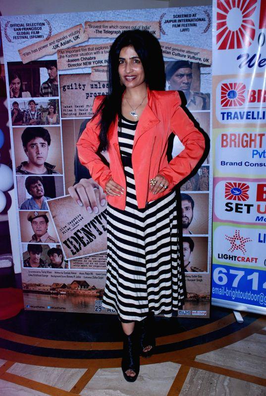 Singer Shibani Kashyap during the music launch of film Identity Card in Mumbai, on Aug. 16, 2014. - Shibani Kashyap