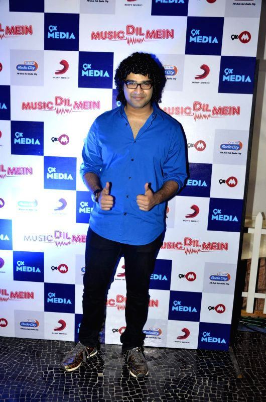 Singer Sid Mahadevan during the launch of music video `Music dil mein` composed by Rochak Kohli for the apt occasion of World Music Day in Mumbai on Friday, June 20, 2014. - Rochak Kohli