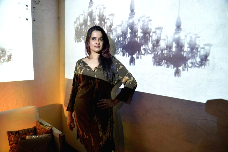 Singer Sona Mohapatra during the party of Couture Cabanas in association with Grey Goose, in Mumbai, on Nov 27, 2015.