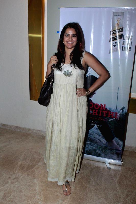 Singer Sona Mohapatra during the screening of Punjabi short film Khoon Aali Chithi in Mumbai on April 24, 2017.