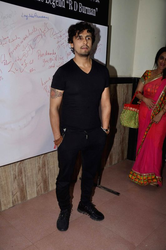 Singer Sonu Nigam during the celebration of 75th birth anniversary of late music director R D Burman in Mumbai, on June 27, 2014. - Sonu Nigam