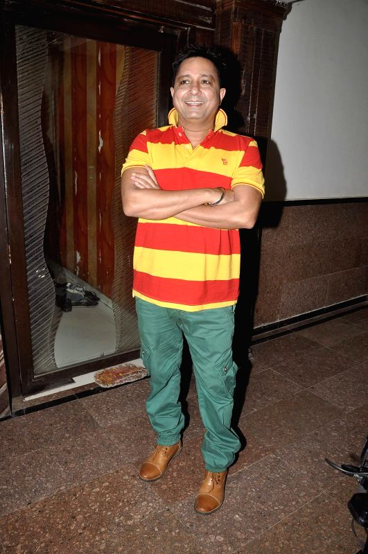Singer Sukhwinder Singh during the song recording for the upcoming film Rab Mujhe Pyaar Ho Gaya in Mumbai on June 18, 2014. - Sukhwinder Singh
