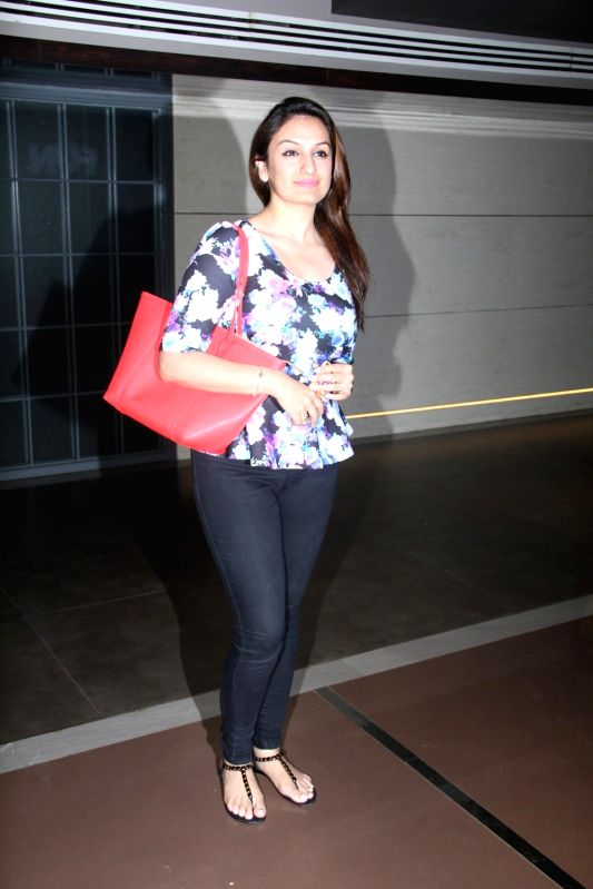 Singer Sukriti Kakar during the screening of Hollywood film Southpaw in Mumbai on July 27, 2015.