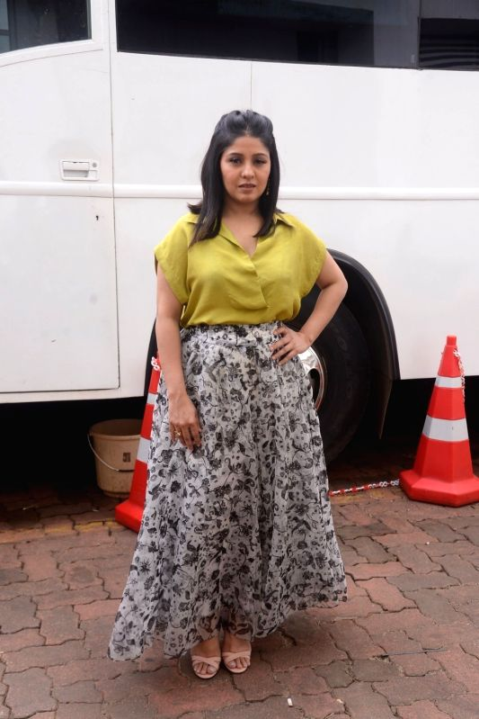"Singer Sunidhi Chauhan on the sets of reality television show ""Dil Hai Hindustani 2"" in Mumbai on July 30, 2018. - Sunidhi Chauhan"