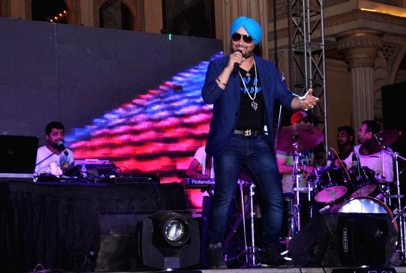 Singer Surj of RDB group performs during a programme at Kingdom of Dreams in Gurgaon.