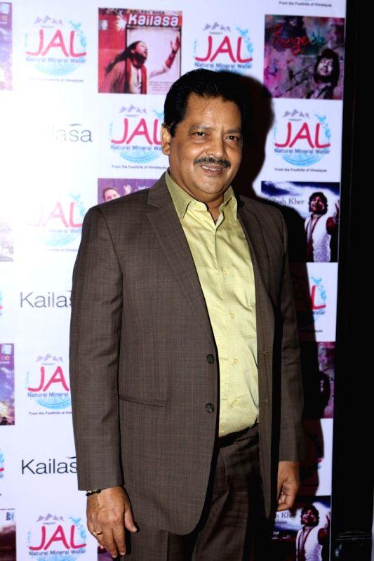 Singer Udit Narayan during the celebration of Kailsh Kher's  padma shri awards in Mumbai on April 25, 2017. - Kailsh Kher