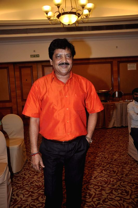 Singer Udit Narayan during the launch of Indian National Anthem video, in Mumbai on Aug 15, 2014.