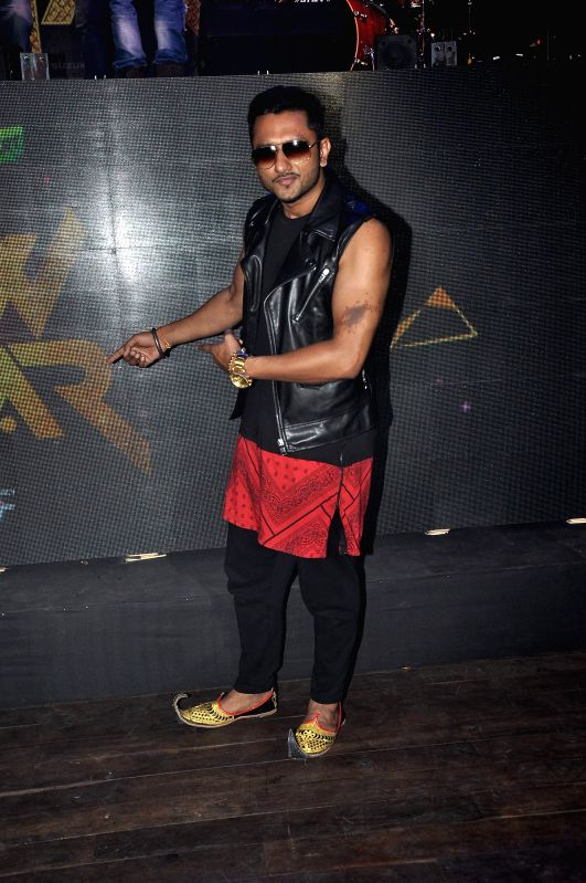 Singer Yo Yo Honey Singh unveil the top 10 contestants for his upcoming television reality show India's Raw Star in Mumbai on August 13, 2014.