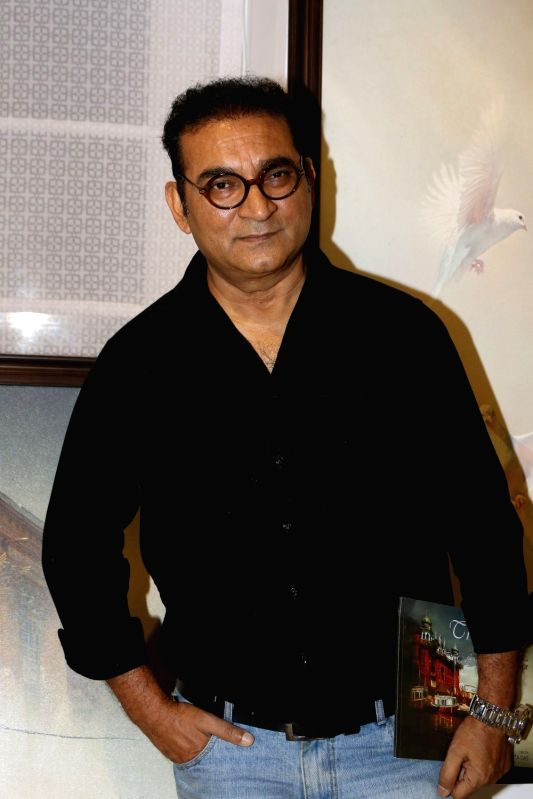 Singers Abhijeet Bhattacharya during an art exhibition in Mumbai on May 1, 2017. (Photo: IANS)ns