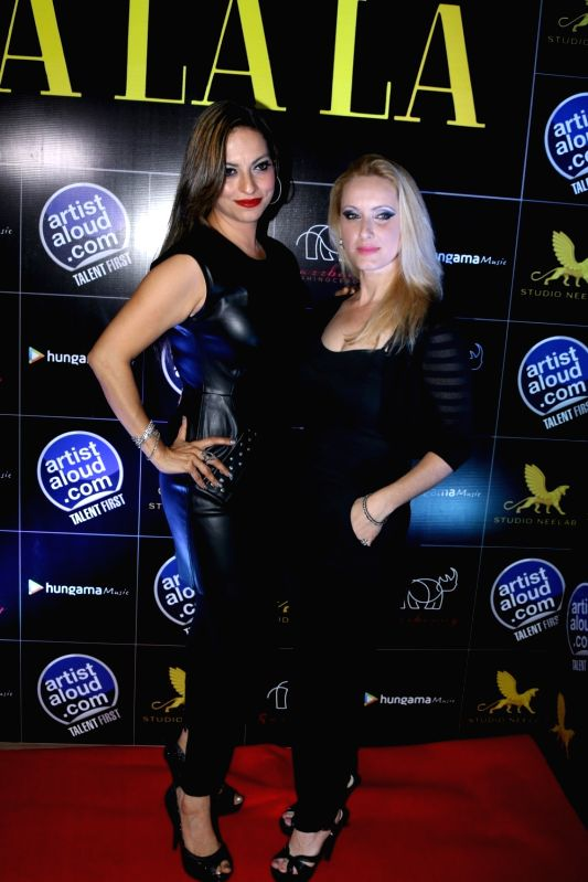 Singers Preety Bhalla and Ilana Segev during the launch of song Sha La La in Mumbai on April 13, 2017.