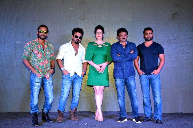 Singers Toshi Sabri, Sharib Sabri, actor Zareen Khan, filmmakers Ram Gopal Varma and Sachin Joshi during the launch of song Khallas from film Veerappan, in Mumbai, on May 14, 2016. - Zareen Khan and Sachin Joshi